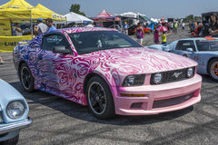 Pink ford mustang Royalty Free Stock Image