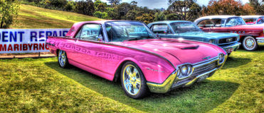 Pink 1962 Ford Thunderbird Royalty Free Stock Image