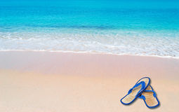 Pink foreshore and flip flop Stock Photography