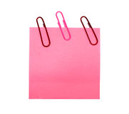 Pink form with a clip Royalty Free Stock Photography