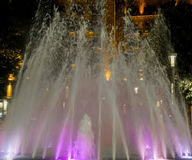 Pink fountain. Belgrade Serbia, night photography, long exposure Royalty Free Stock Photography