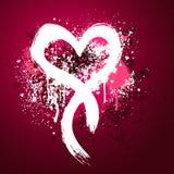 pink för designgrungehjärta Royaltyfri Fotografi
