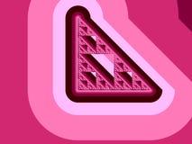 Pink fractal background Stock Image