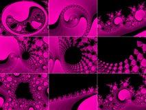 Pink fractal background Stock Photo