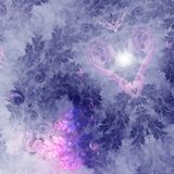 Pink fractal heart. Valentine`s day motive, digital artwork for creative graphic design Royalty Free Stock Photography