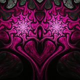 Pink fractal heart. Valentine`s day motive, digital artwork for creative graphic design Royalty Free Stock Images