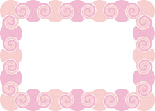 Pink frame Stock Images