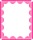Pink frame. Isolated with white background Royalty Free Stock Photography