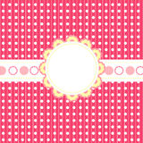Pink frame. Frame with place for text on the pink background Stock Photos