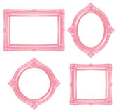 Pink frame. Set of gorgeous decorative frame. Pink picture frame Royalty Free Stock Photos