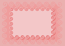 Pink frame. For baby girls Royalty Free Stock Images