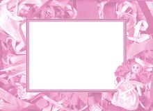 Pink frame Stock Photography
