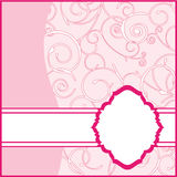 Pink Frame Background Stock Photo