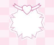Pink frame background Stock Photos