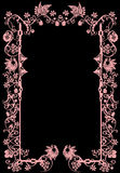 Pink frame with birds Royalty Free Stock Photos