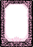 Pink frame on black and white Royalty Free Stock Image