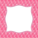 Pink frame border invitation card Stock Photos