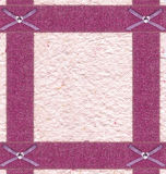 Pink frame of brocade ribbon Stock Photos