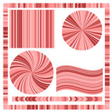 Pink Frame and Circles Stock Images