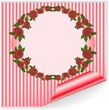 Pink frame with curved corner Royalty Free Stock Photography