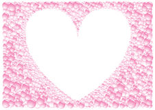 Pink_frame_heart Royalty Free Stock Image