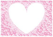 Pink_frame_heart Imagem de Stock Royalty Free