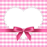 Pink frame with heart stock illustration