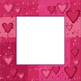 Pink frame with hearts Royalty Free Stock Photos