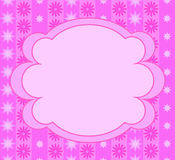 Pink frame for little girls. Pink flowers Royalty Free Stock Image