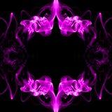 Pink frame made of smoke Stock Image