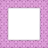 Pink frame. Modern flower square Stock Image