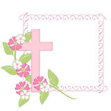 Pink Frame with Pink Cross Royalty Free Stock Photography