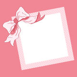 Pink frame and ribbon Stock Images