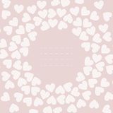 Pink frame with white hearts Royalty Free Stock Images