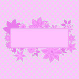 Pink Frame With Flowers Stock Photo
