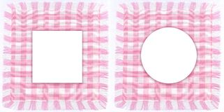 Pink frames. Two particular frames of pink checkered for your photos. Suitable for scrapbooking Stock Photos