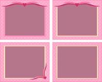 Pink frames Stock Image