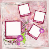 Pink frames for photo Stock Image