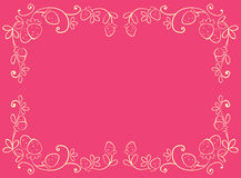 Pink frames with strawberry Royalty Free Stock Photo