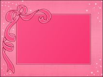 Pink frames template Royalty Free Stock Image