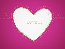Pink framework with heart. Royalty Free Stock Photography