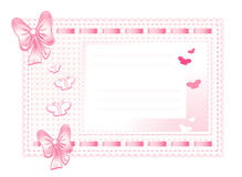 Pink framework made of cloth with bows Royalty Free Stock Photography
