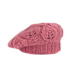 Pink french beret Royalty Free Stock Image