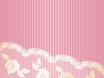 Pink French lace background Royalty Free Stock Photography