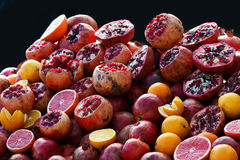 Pink fresh fruits. Different kind of fresh pink juicy fruits Stock Photo