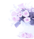 Pink fresh roses bouquet Royalty Free Stock Photo