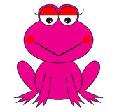 Pink frog cartoon vector Royalty Free Stock Images