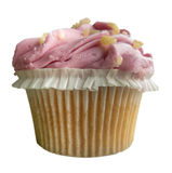 Pink Frosted Cupcake Royalty Free Stock Photos