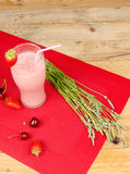Pink fruity smoothie Stock Image