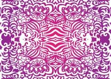 Pink funky seamless pattern Royalty Free Stock Image